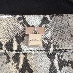 NWT Calvin Klein Snakeskin Leather Crossbody